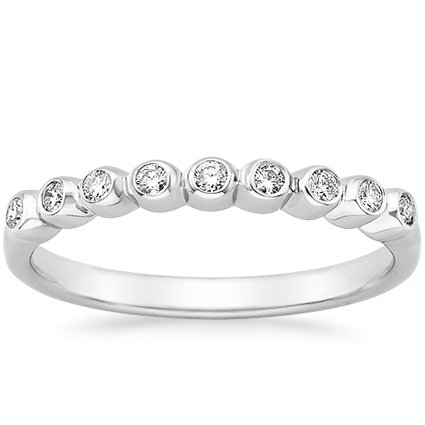 18K White Gold Eclipse Diamond Ring, top view