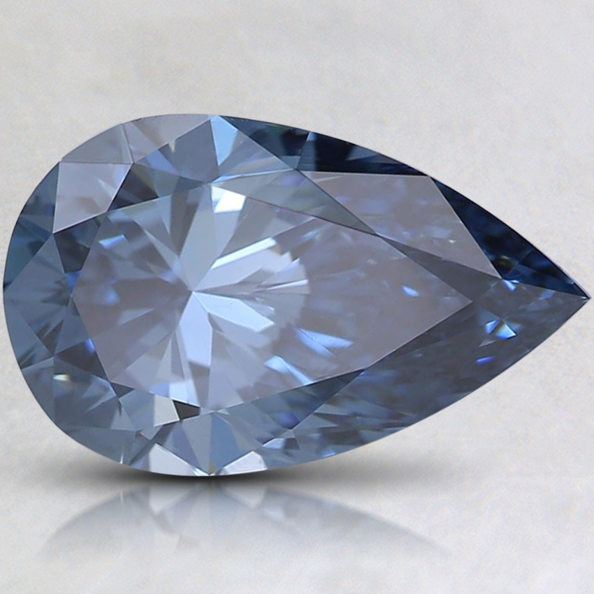 2.06 Ct. Fancy Intense Blue Pear Lab Created Diamond