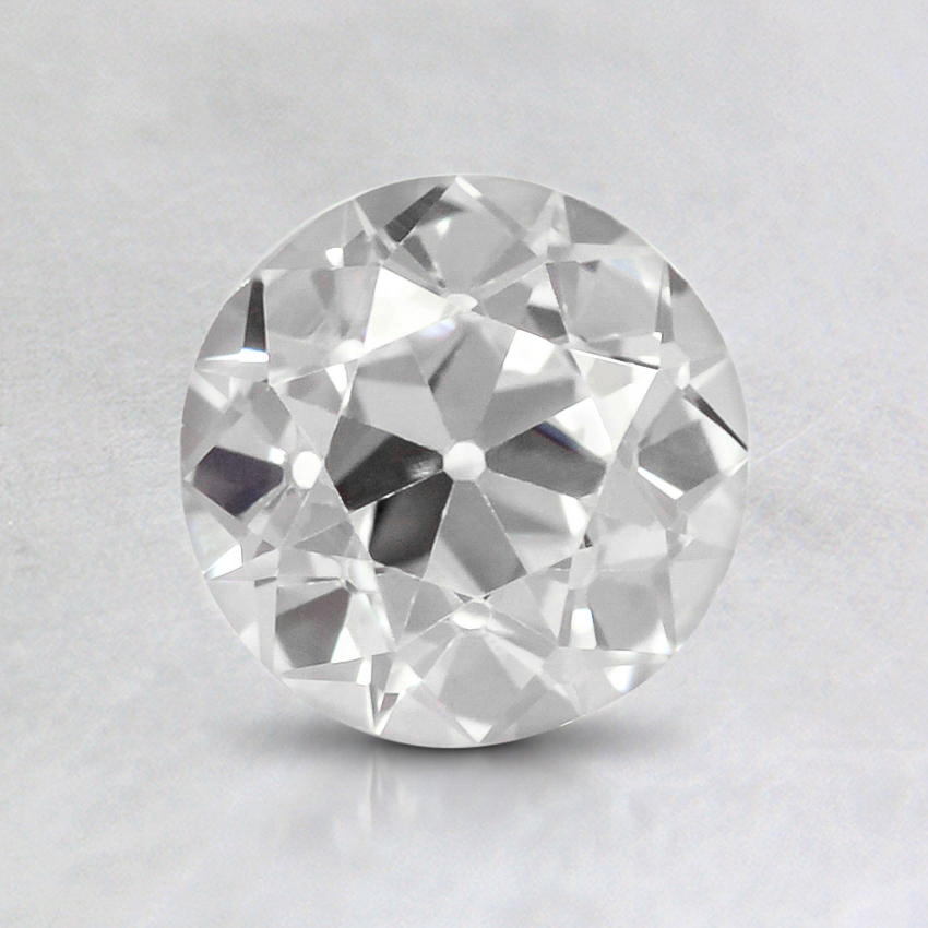 0.95 Carat, D Color, SI2 Clarity, Round Old European Cut Diamond
