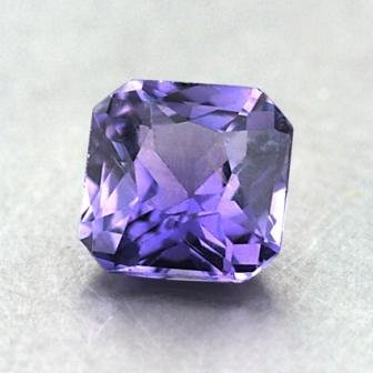 5.8mm Purple Radiant Sapphire, top view