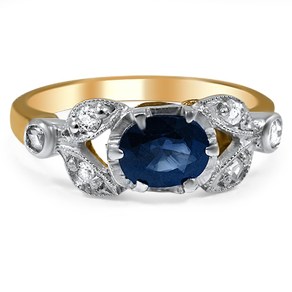 The Bellissima Ring, top view