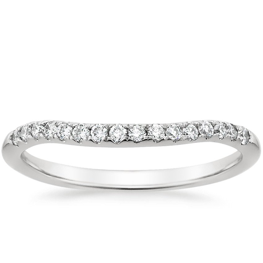 18K White Gold Harmony Diamond Ring, top view
