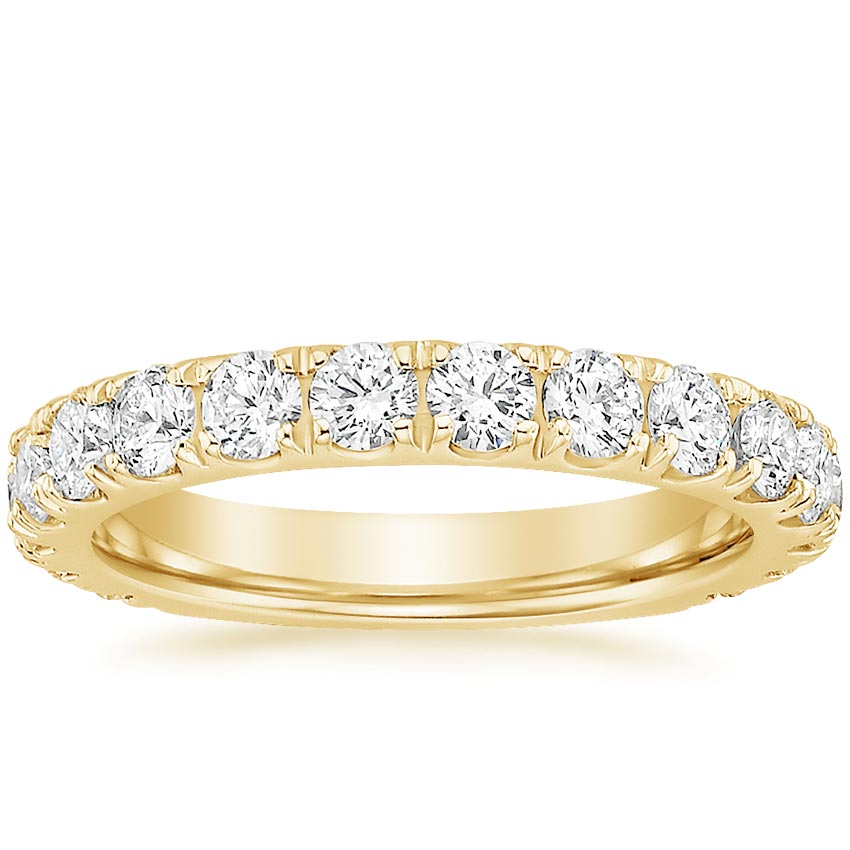 Yellow Gold Luxe Scalloped Pavé Wedding Band