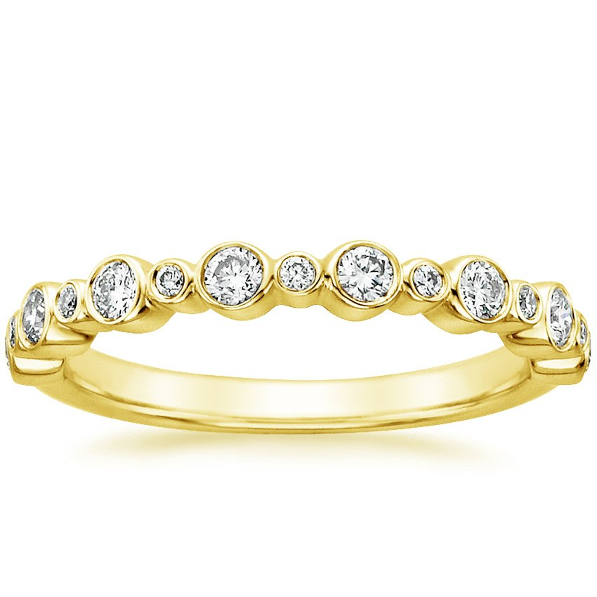 18K Yellow Gold Isla Diamond Ring (1/4 ct. tw.), top view