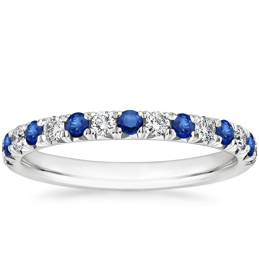 Pavé Sapphire and Diamond Ring
