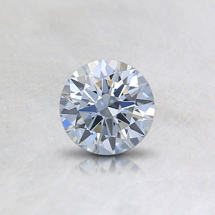 0.32 Ct. Fancy Light Blue Round Lab Created Diamond