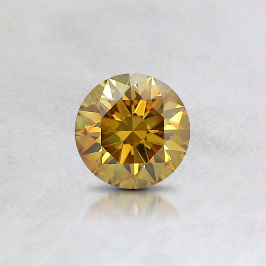 0.36 Ct. Fancy Deep Orangy Yellow Round Lab Created Diamond