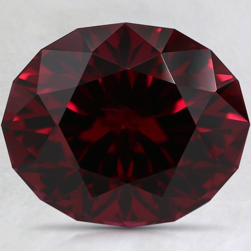 12.5x10.3mm Red Modified Oval Rhodolite Garnet
