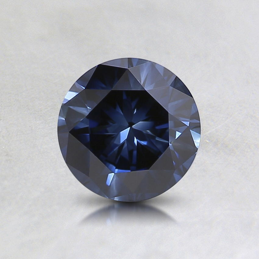 0.64 Ct. Lab Created Fancy Dark Blue Round Diamond