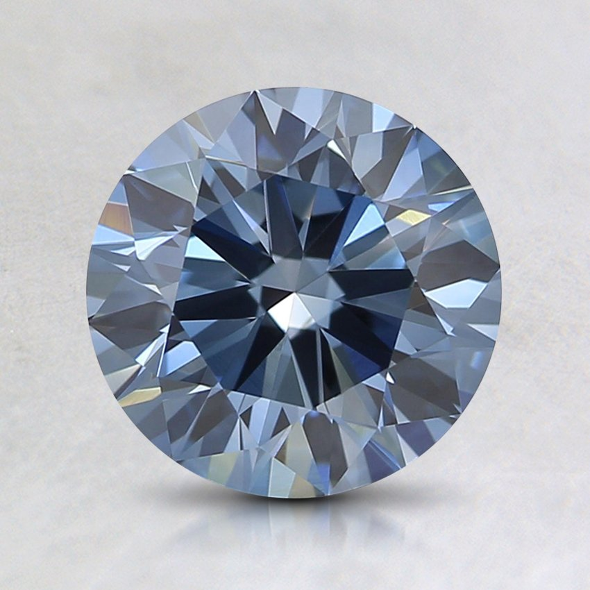 1.4 Ct. Fancy Deep Blue Round Lab Created Diamond
