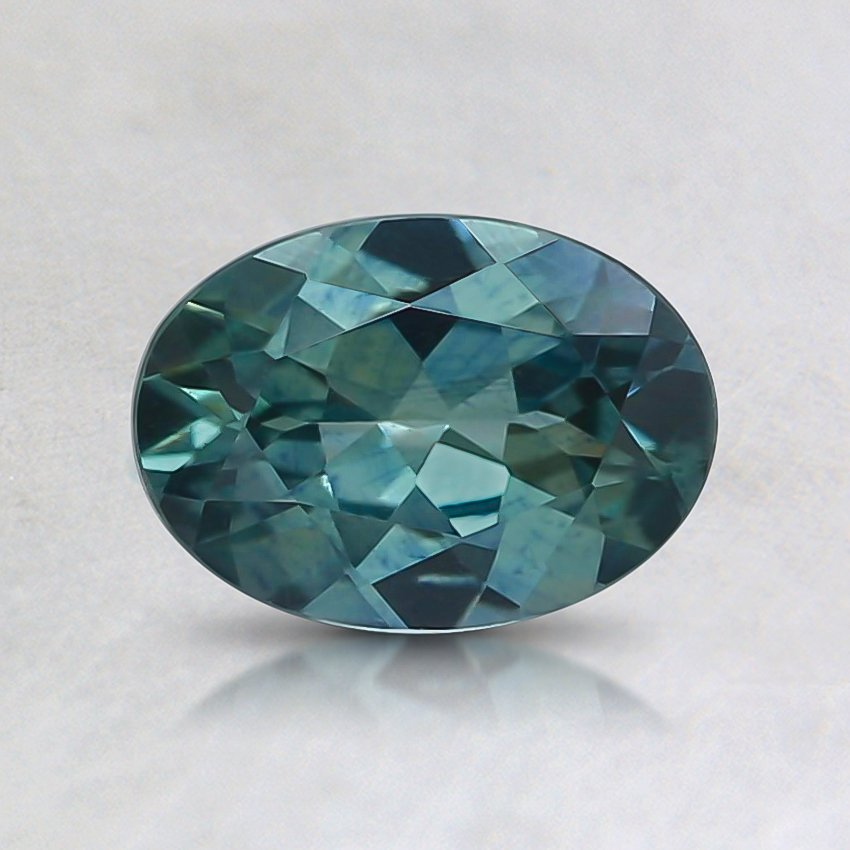 7.1x5.1mm Teal Oval Sapphire