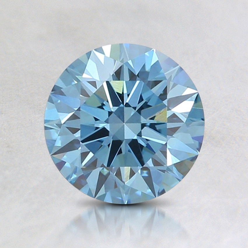 1.08 Ct. Fancy Intense Blue Round Lab Created Diamond