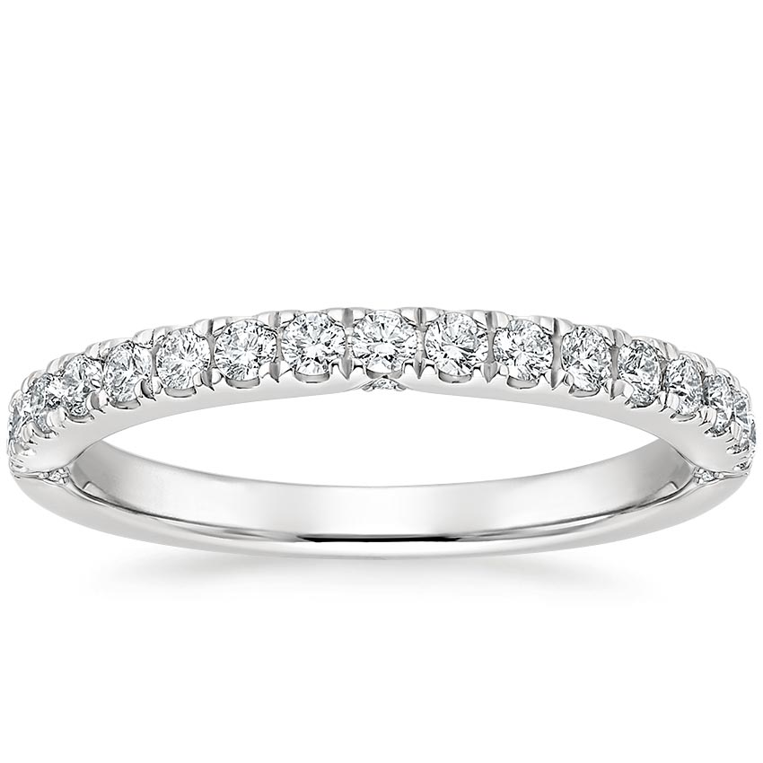 Diamond Accented Indented Band