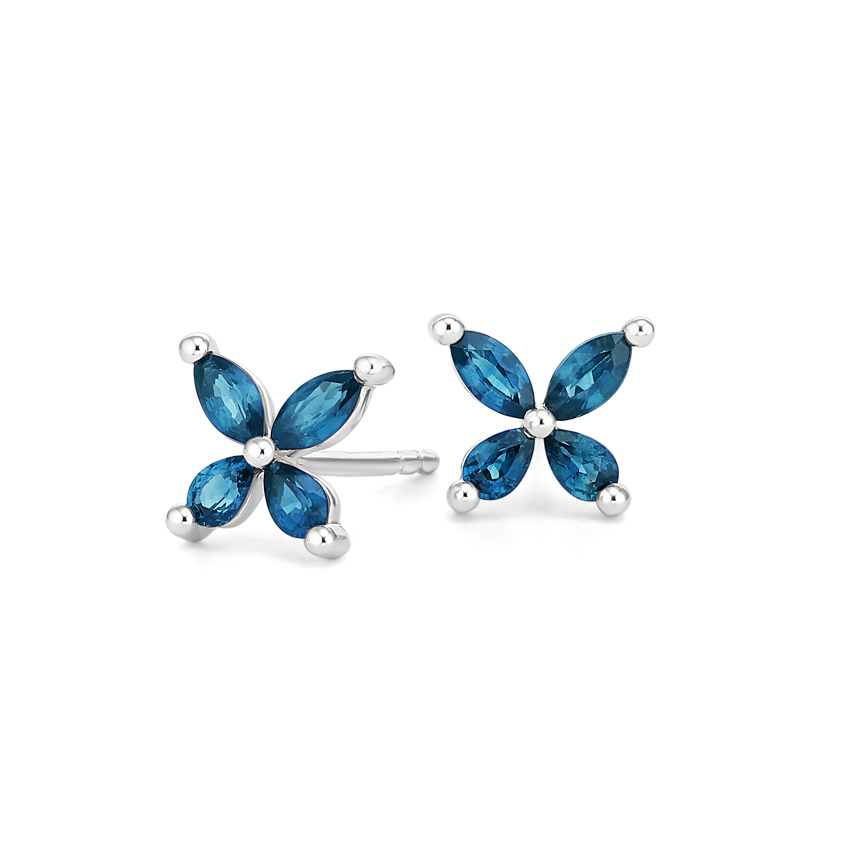 London Blue Topaz Butterfly Earrings