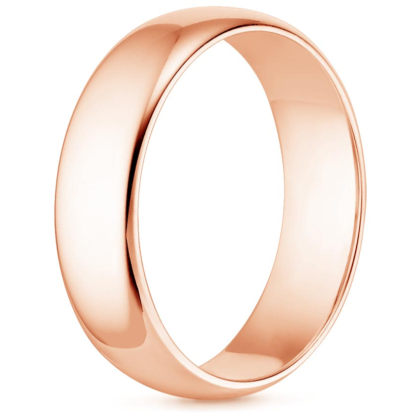 4mm Comfort Fit Men S Wedding Ring In 14k Rose Gold