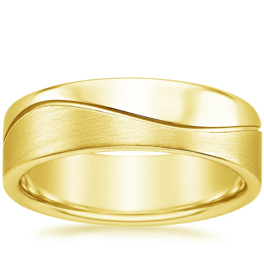 Yellow Gold Wave Wedding Ring
