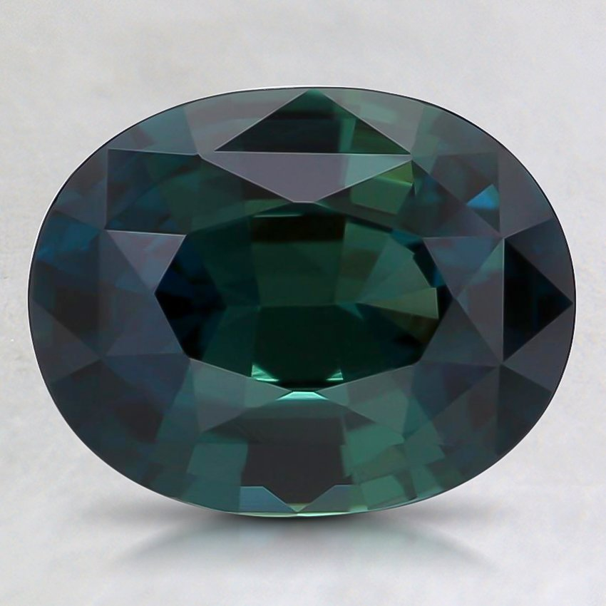 9.2x7.3mm Premium Teal Oval Sapphire