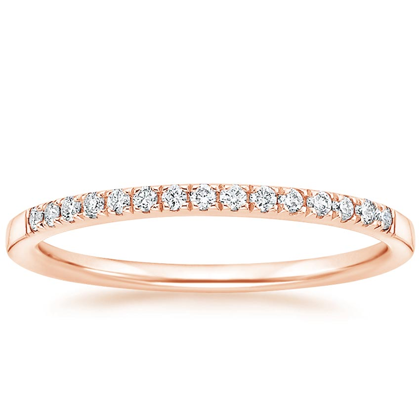 Rose Gold Petite Ballad Diamond Ring (1/10 ct. tw.)