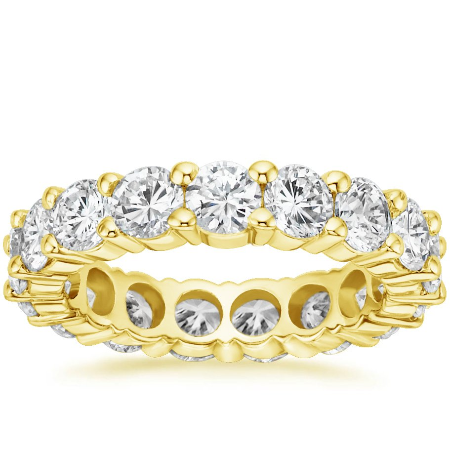 diamond eternity ring 4 ct tw in 18k yellow gold. Black Bedroom Furniture Sets. Home Design Ideas