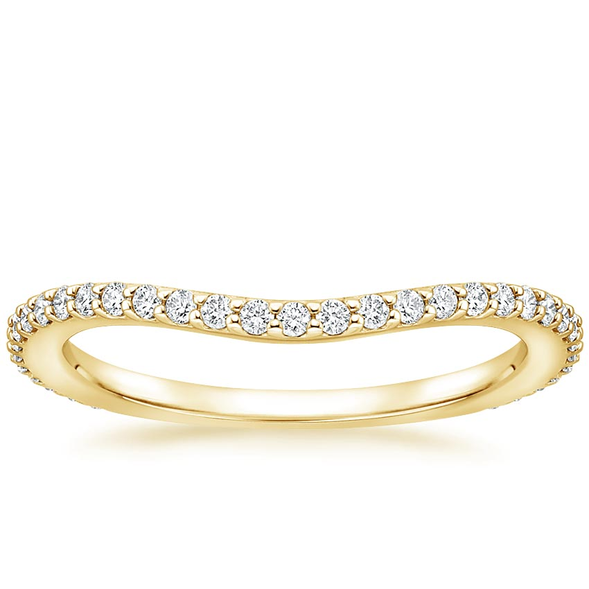 Yellow Gold Luxe Curved Diamond Ring