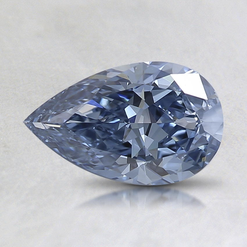 0.68 Ct. Lab Created Fancy Intense Blue Pear Diamond