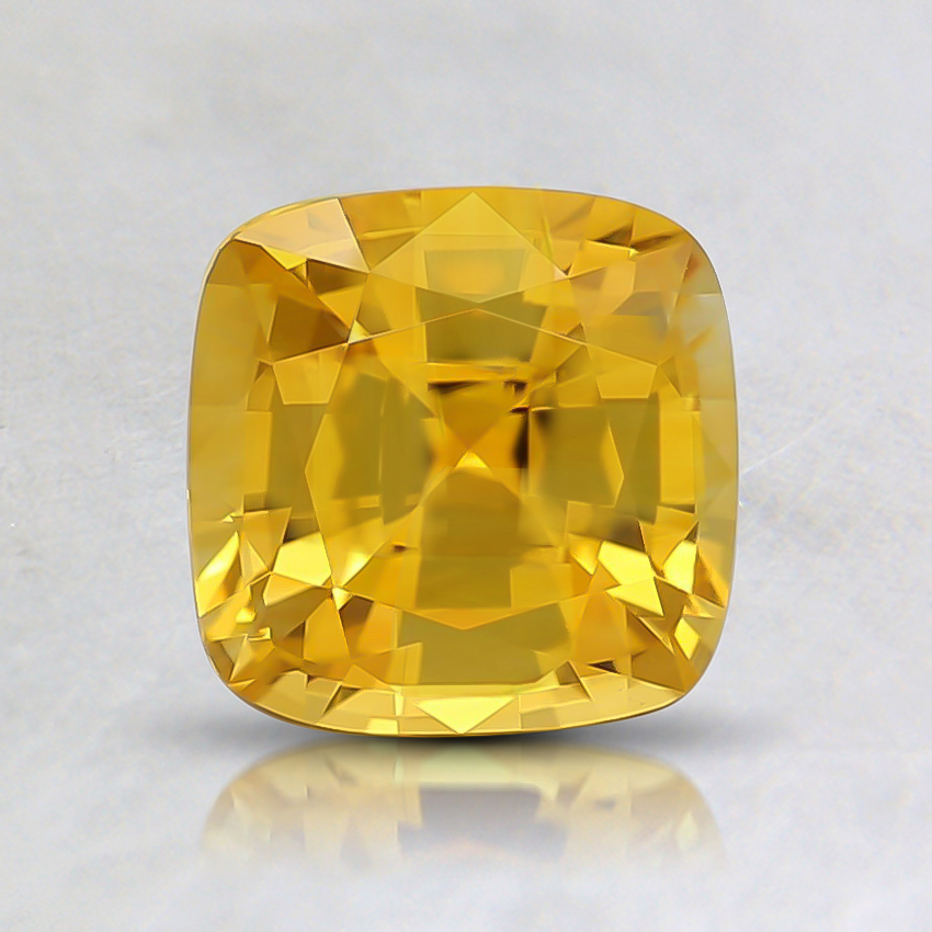 6mm Yellow Cushion Sapphire