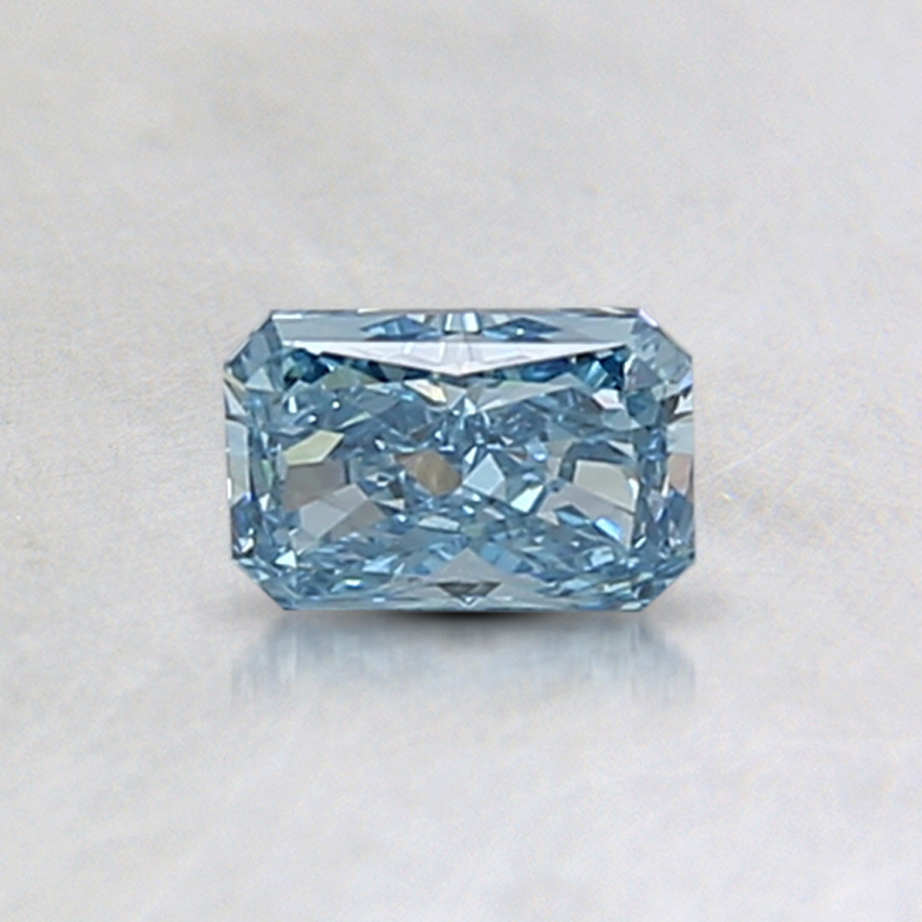0.48 Ct. Fancy Intense Blue Radiant Lab Created Diamond