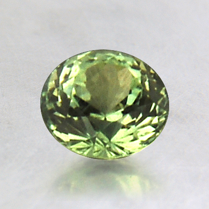 5.7mm Green Round Sapphire, top view