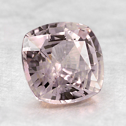 7mm Peach Cushion Sapphire, top view
