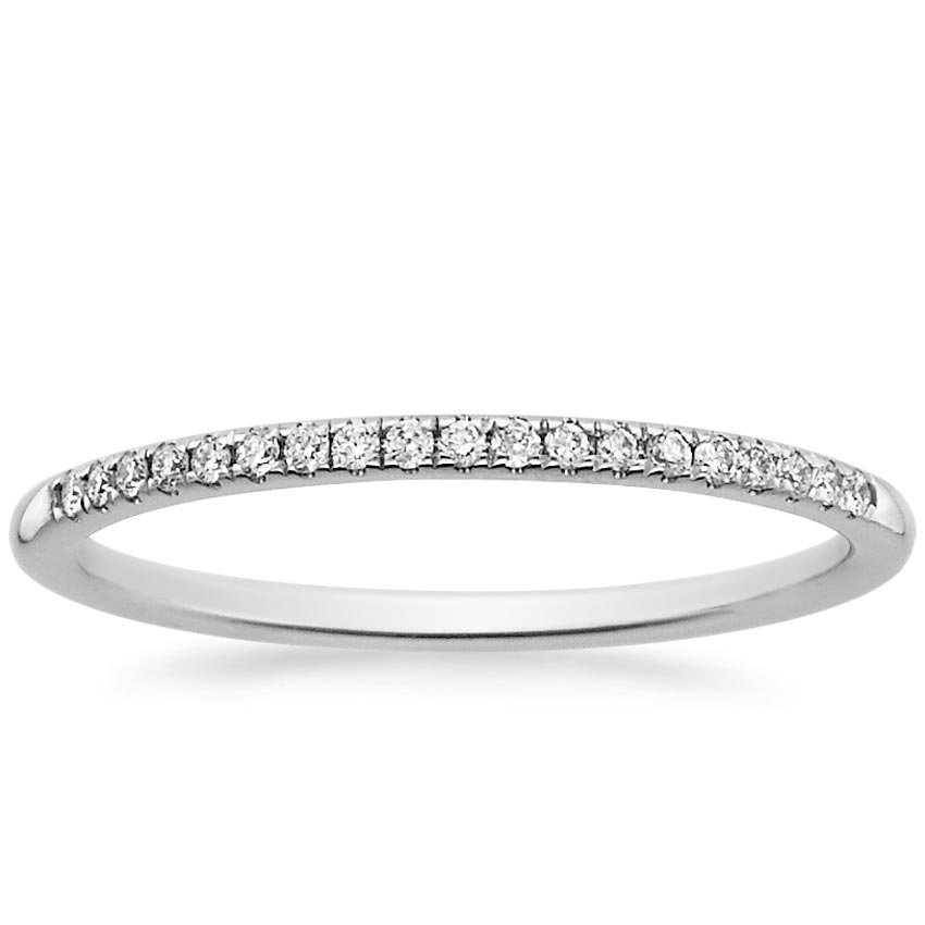18K White Gold Whisper Diamond Ring, top view