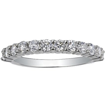 Platinum Luxe Shared Prong Diamond Ring (3/4 ct. tw.), top view
