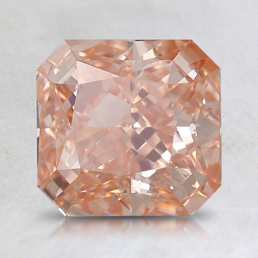 2.00 Ct. Fancy Instense Orangy Pink Radiant Lab Created Diamond