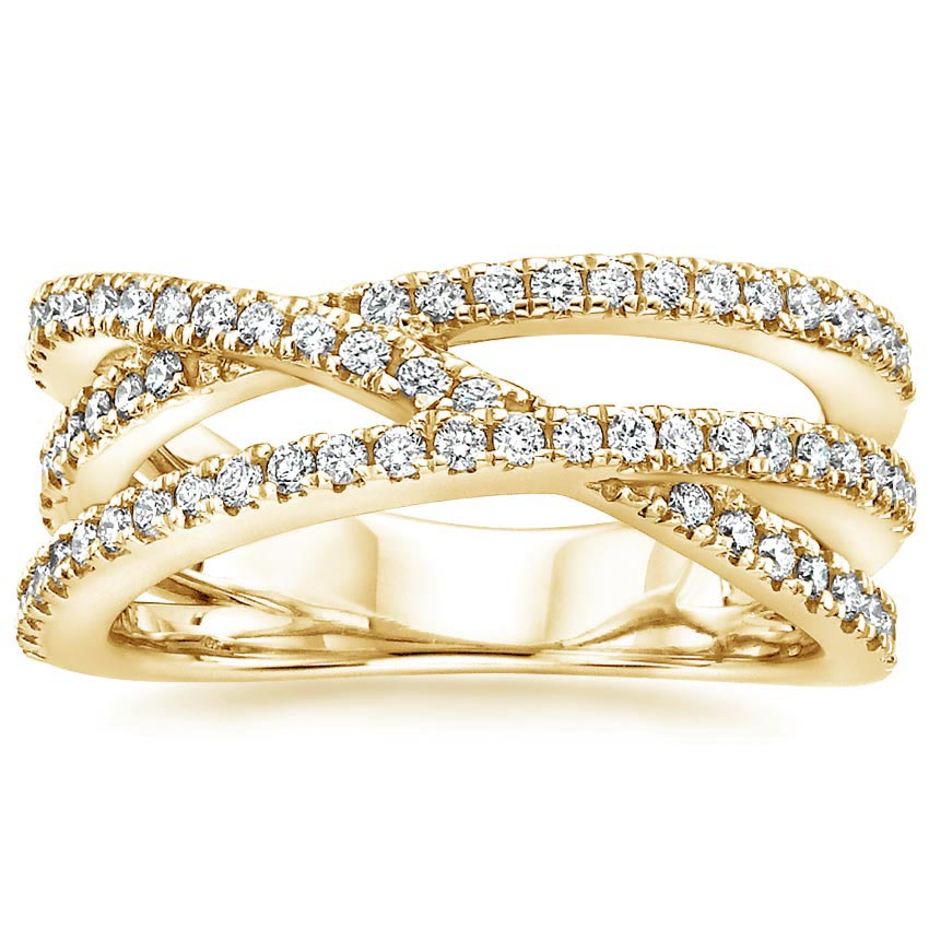 Yellow Gold Entwined Bisou Diamond Ring (1/2 ct. tw.)