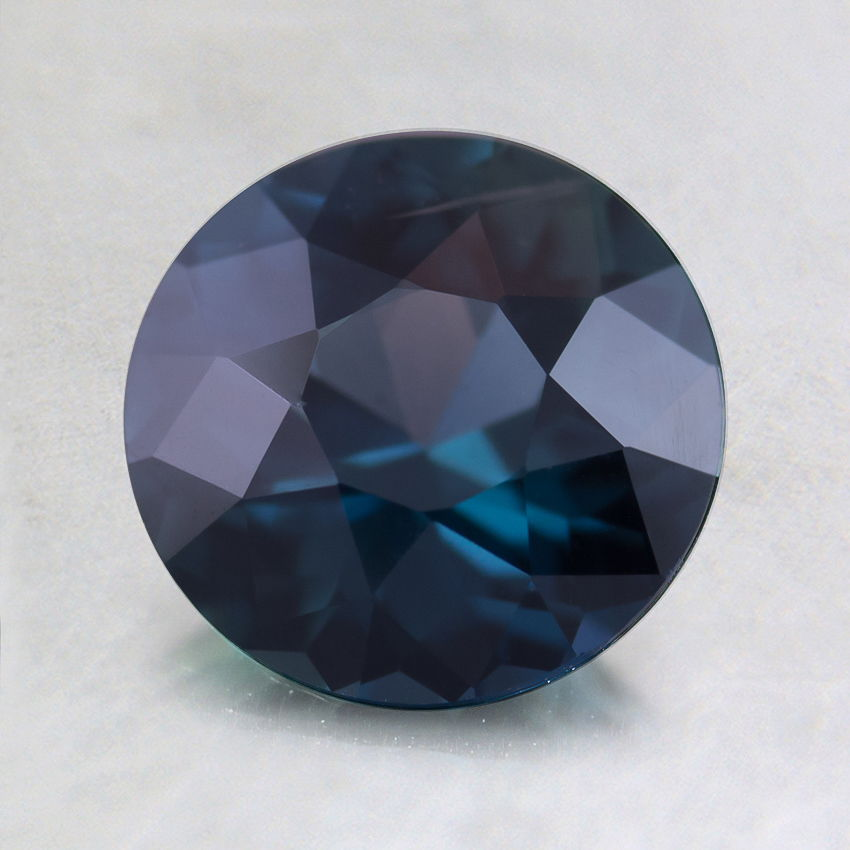 7.2mm Premium Teal Round Sapphire, top view