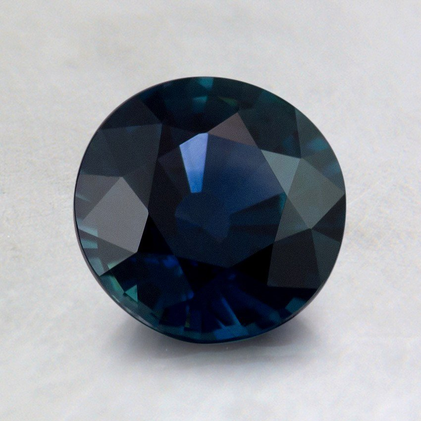 6.5mm Unheated Teal Round Sapphire