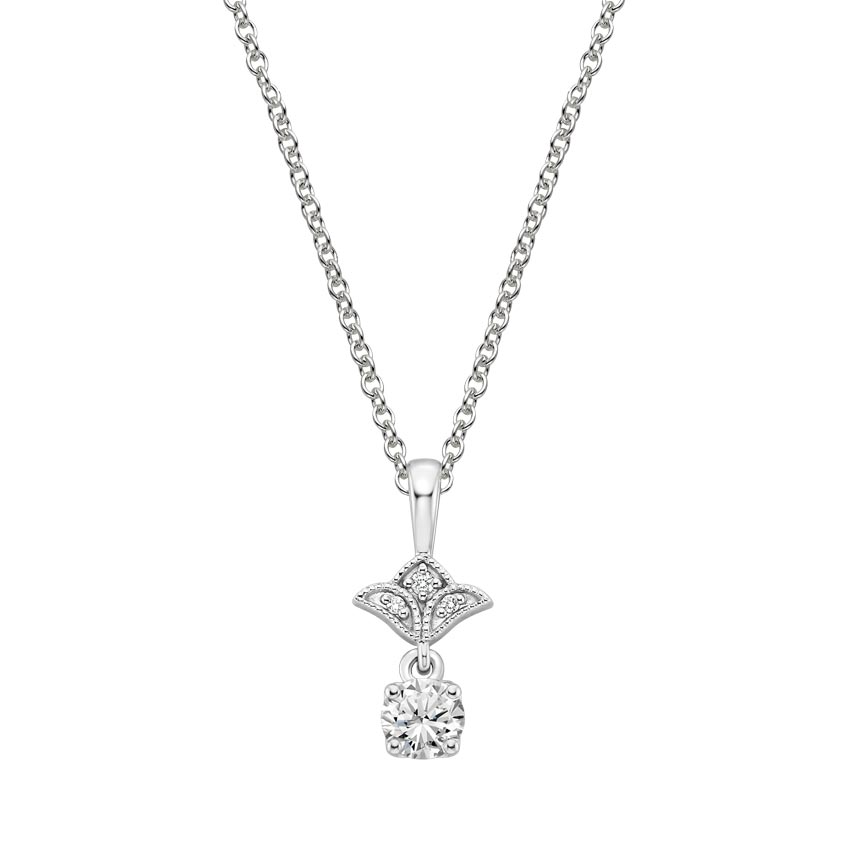 21728dbf081eb 18K White Gold Vera Diamond Pendant (1/4 ct. tw.)