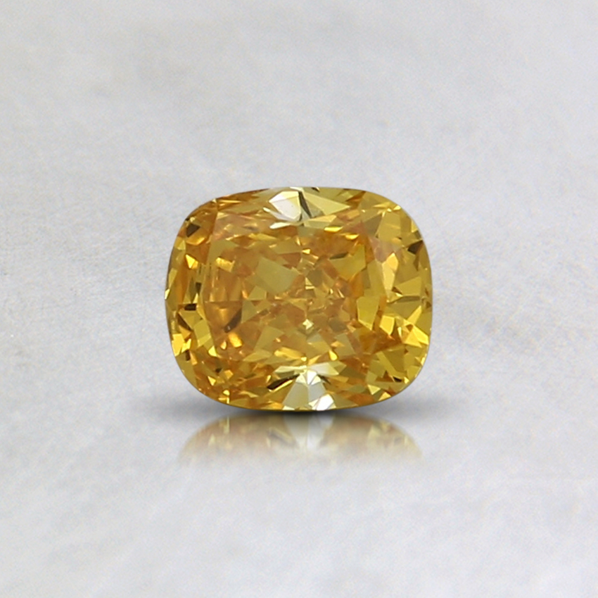 0.33 Ct. Fancy Vivid Orange-Yellow Cushion Lab Created Diamond