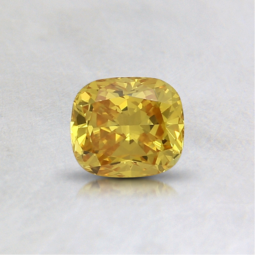 0.41 Ct. Fancy Vivid Yellow Cushion Lab Created Diamond