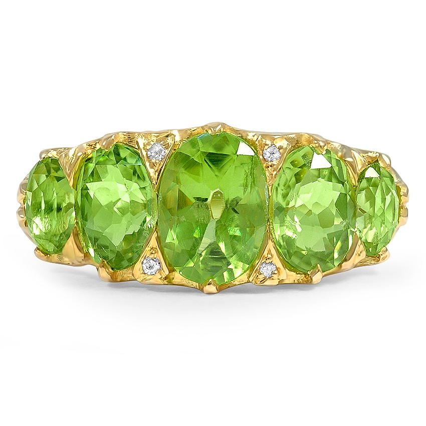 Victorian Peridot Cocktail Ring