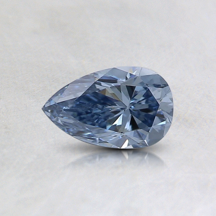 0.40 Ct. Fancy Intense Blue Pear Lab Created Diamond