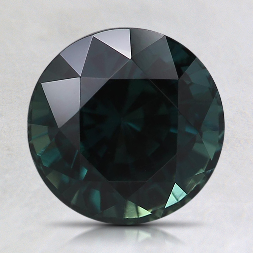 8mm Unheated Teal Round Sapphire