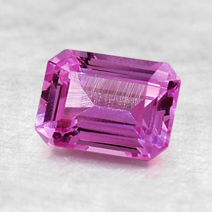 7.4X5.5mm Super Premium Pink Emerald Sapphire, top view