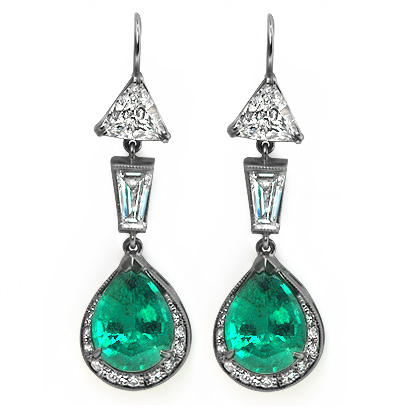 The Verdana Earrings, top view