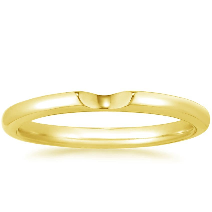 18K Yellow Gold Sierra Contoured Ring, top view