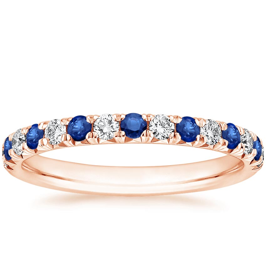Rose Gold Sienna Sapphire and Diamond Ring (1/5 ct. tw.)
