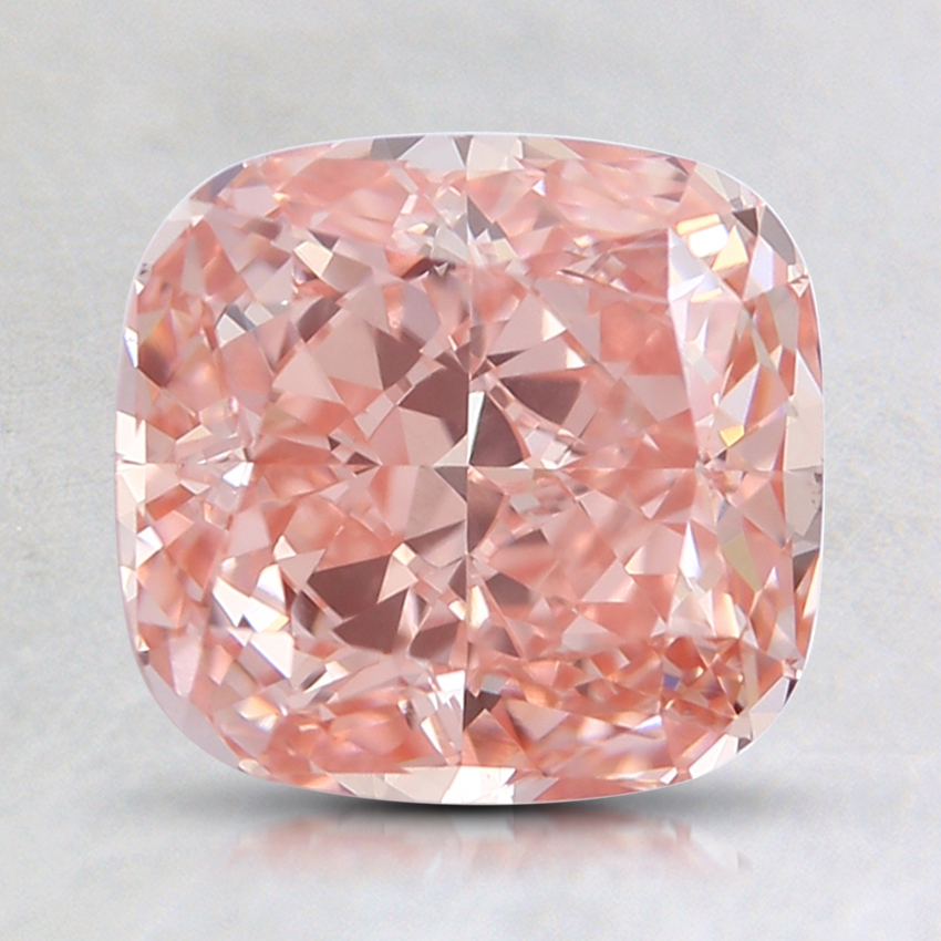 2.01 Ct. Fancy Intense Orangy Pink Cushion Lab Created Diamond