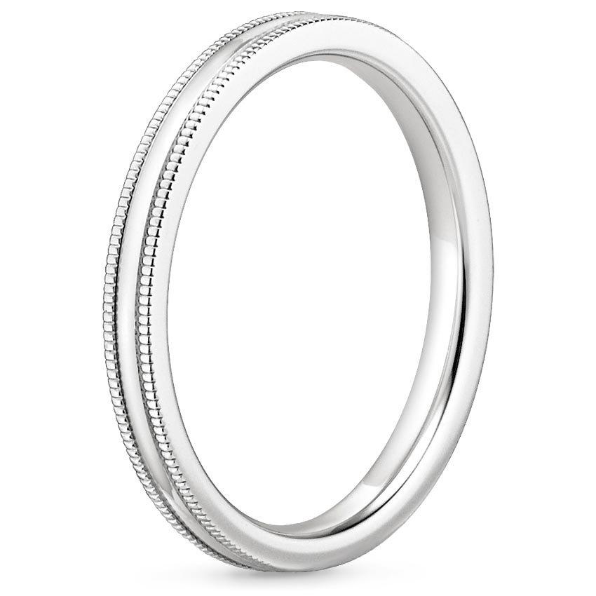 2mm Milgrain Wedding Ring