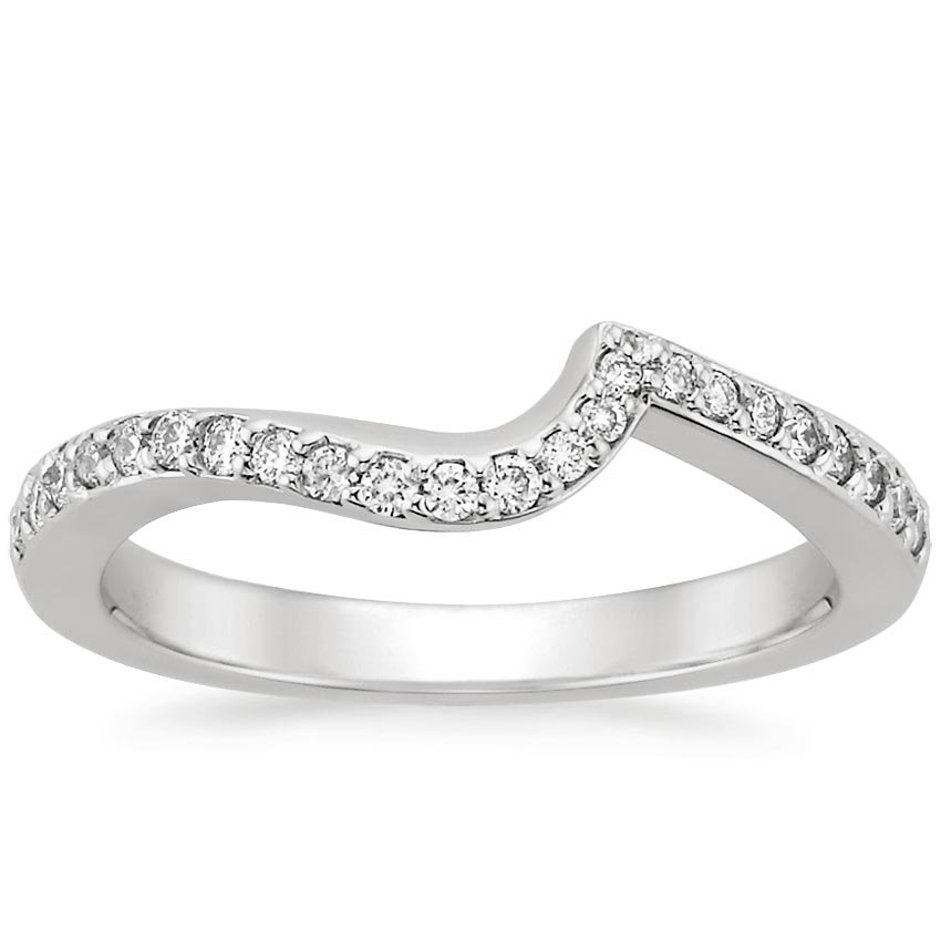 Seacrest Ring with Diamond Accents in 18K White Gold