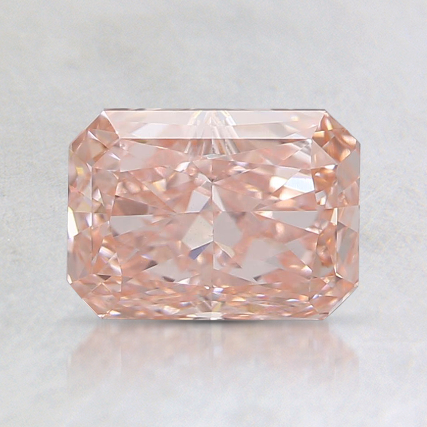 1.20 Ct. Fancy Intense Orangy Pink Radiant Lab Created Diamond