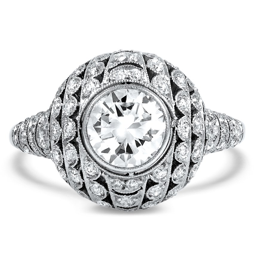 Art Deco Reproduction Diamond Vintage Ring